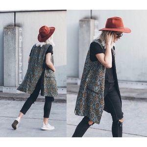 Zara patterned vest NWT